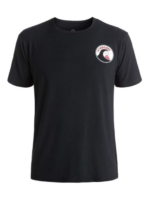 QUIKSILVER MENS RASH T SHIRT.NEW PARAD AMPHIBIAN UPF50 BLACK SURF TOP 7S/55/KVJO